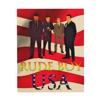 Rude Boy USA Wood Wall Art