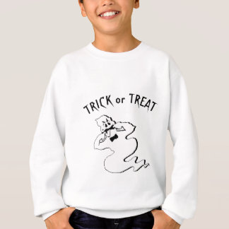 Rude Ghost - Trick or Treat and Happy Halloween Sweatshirt
