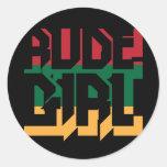 Rude Girl Round Sticker