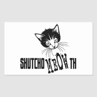 Rude Kitty - Shut Your Mouth Sticker
