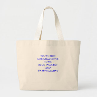 rude large tote bag