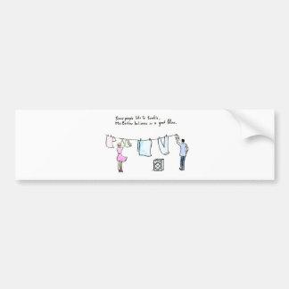 Rude Laundry Joke Good Blow Bumper Sticker