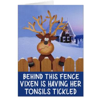 Rude reindeer Christmas Greeting Card