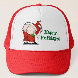 Rude Santa happy Holidays Hat