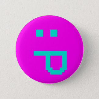 rude smiley 2 inch round button
