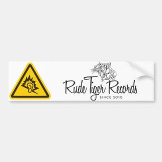 Rude Tiger Records Bumper Sticker