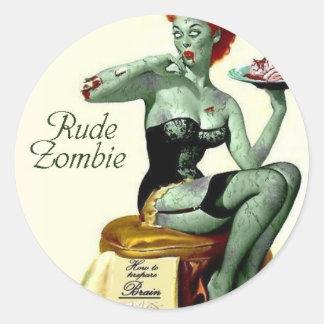 "Rude Zombie ""The First Bite"" Classic Round Sticker"