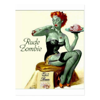 "Rude Zombie ""The First Bite"" Postcard"
