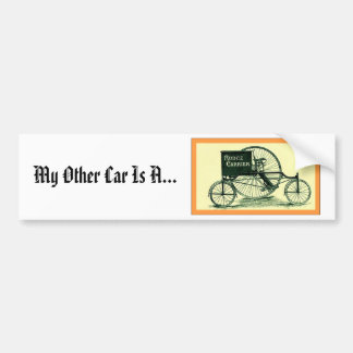 Rudge Carrier ~ Vintage Tricycle Advertising Bumper Sticker