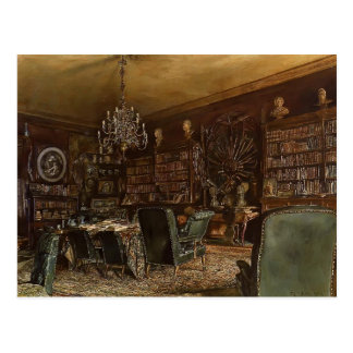 Rudolf Alt-Library of the Palais Lanckoronski Postcard