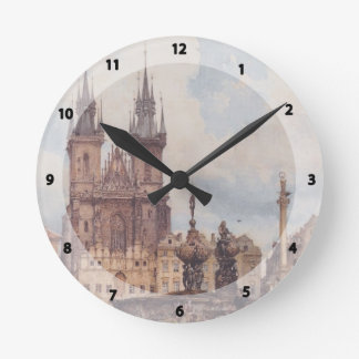 Rudolf Alt- View of the Old Town Square Round Clock