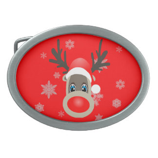 Rudolf - Christmas reindeer Belt Buckle