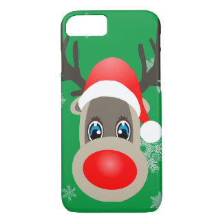 Rudolf - Christmas reindeer iPhone 8/7 Case