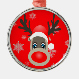 Rudolf - Christmas reindeer Metal Ornament
