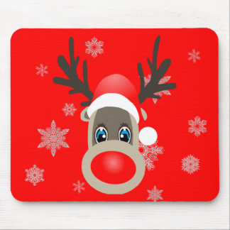 Rudolf - Christmas reindeer Mouse Pad
