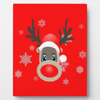 Rudolf - Christmas reindeer Plaque