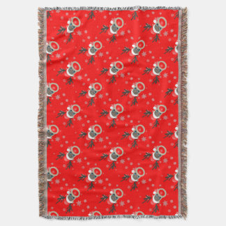 Rudolf - Christmas reindeer Throw Blanket