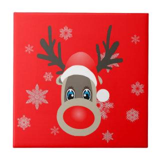 Rudolf - Christmas reindeer Tile
