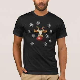 Rudolf red nosed snowflakes T-Shirt
