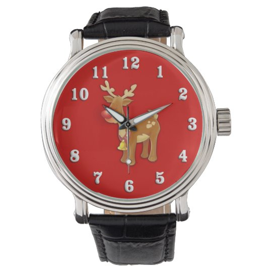 Rudolf Reindeer Christmas Wristwatch