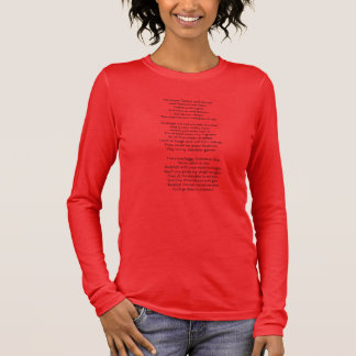 Rudolf the red-nosed reindeer song lyrics long sleeve T-Shirt