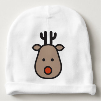 Rudolf the Reindeer Christmas Baby Cotton Beanie Baby Beanie