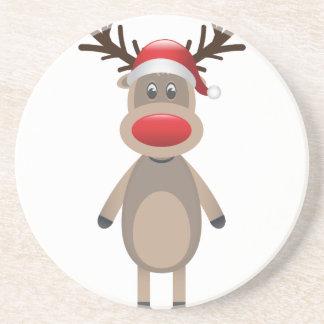 Rudolf the Reindeer Christmas Cute Design Coaster