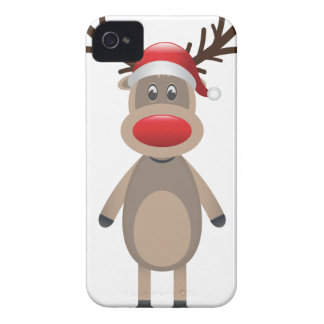 Rudolf the Reindeer Christmas Cute Design iPhone 4 Case-Mate Cases