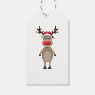 Rudolf the Reindeer Christmas Cute Design Pack Of Gift Tags
