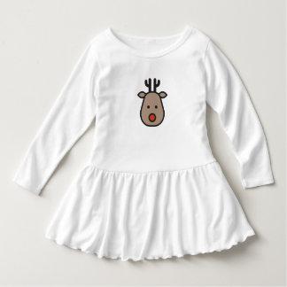 Rudolf the Reindeer Christmas Toddler Ruffle Dress