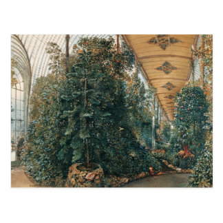 Rudolf von Alt- Interior view of the Palm House Postcard