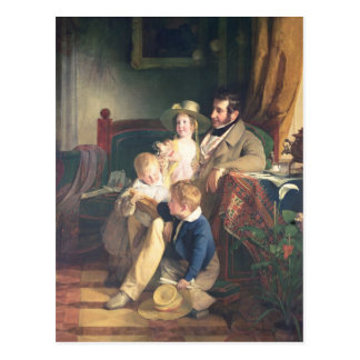 Rudolf von Arthaber  with his Children Rudolf Postcard