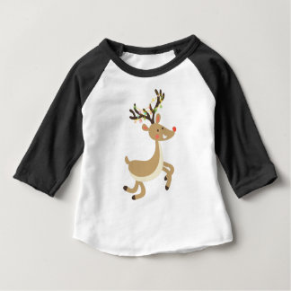 Rudolf with Christmas Lights, perfect Xmas Gift Baby T-Shirt