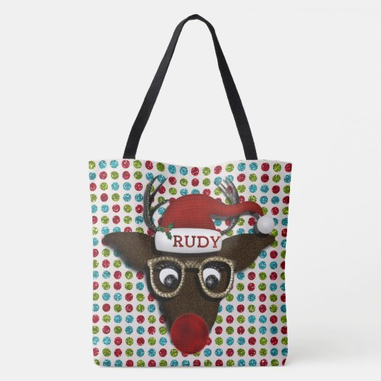 Rudolph  ALL OVER PRINT TOTE