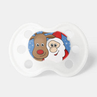 Rudolph and Santa selfie Baby Pacifiers