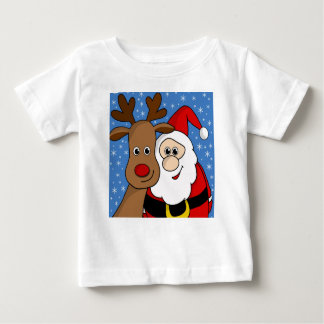 Rudolph and Santa selfie Baby T-Shirt