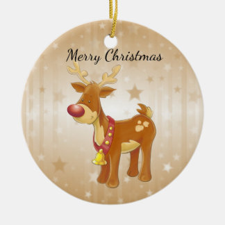 Rudolph Ceramic Ornament