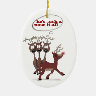 "Rudolph ""nose it all"" *CUSTOMIZABLE* ornament"