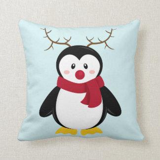 Rudolph Penguin Throw Pillow