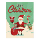 Rudolph Photo Bombs Santa Postcard