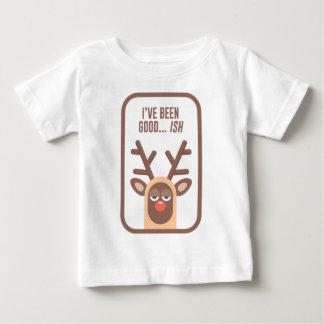 Rudolph Red Nose Reindeer Naughty Nice Good Bad Li Baby T-Shirt