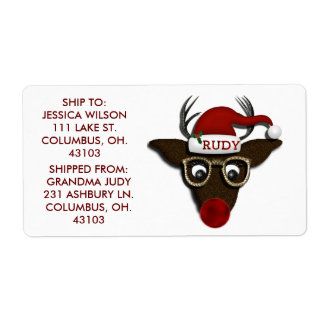 Rudolph SHIPPING LABELS