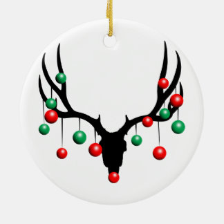 Rudolph the Dead Nosed Reindeer Ceramic Ornament