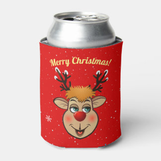 Rudolph - The Most Famous Reindeer Of All Can Cooler