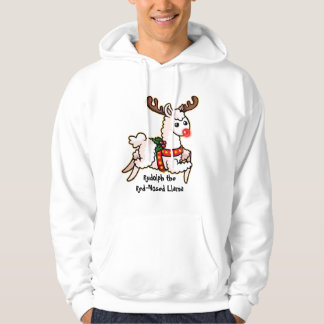 Rudolph the Red-Nosed Llama Hoodie