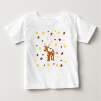 Rudolph the red nosed reindeer Christmas stars Baby T-Shirt