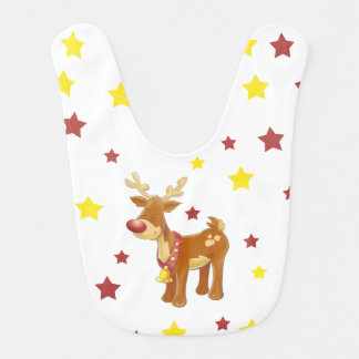 Rudolph the red nosed reindeer Christmas stars Bib