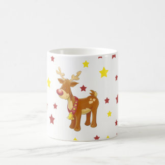 Rudolph the red nosed reindeer Christmas stars Coffee Mug