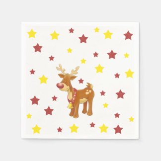 Rudolph the red nosed reindeer Christmas stars Napkin
