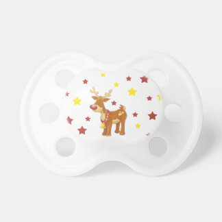 Rudolph the red nosed reindeer Christmas stars Pacifier
